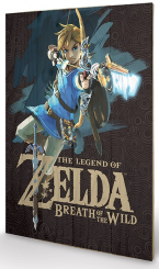 Zelda Breath of the Wild Impression sur Bois